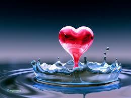 acqua cuore rosso