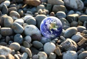 Pianeta terra terreno ciotoli