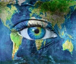 pianeta terra e gli occhi